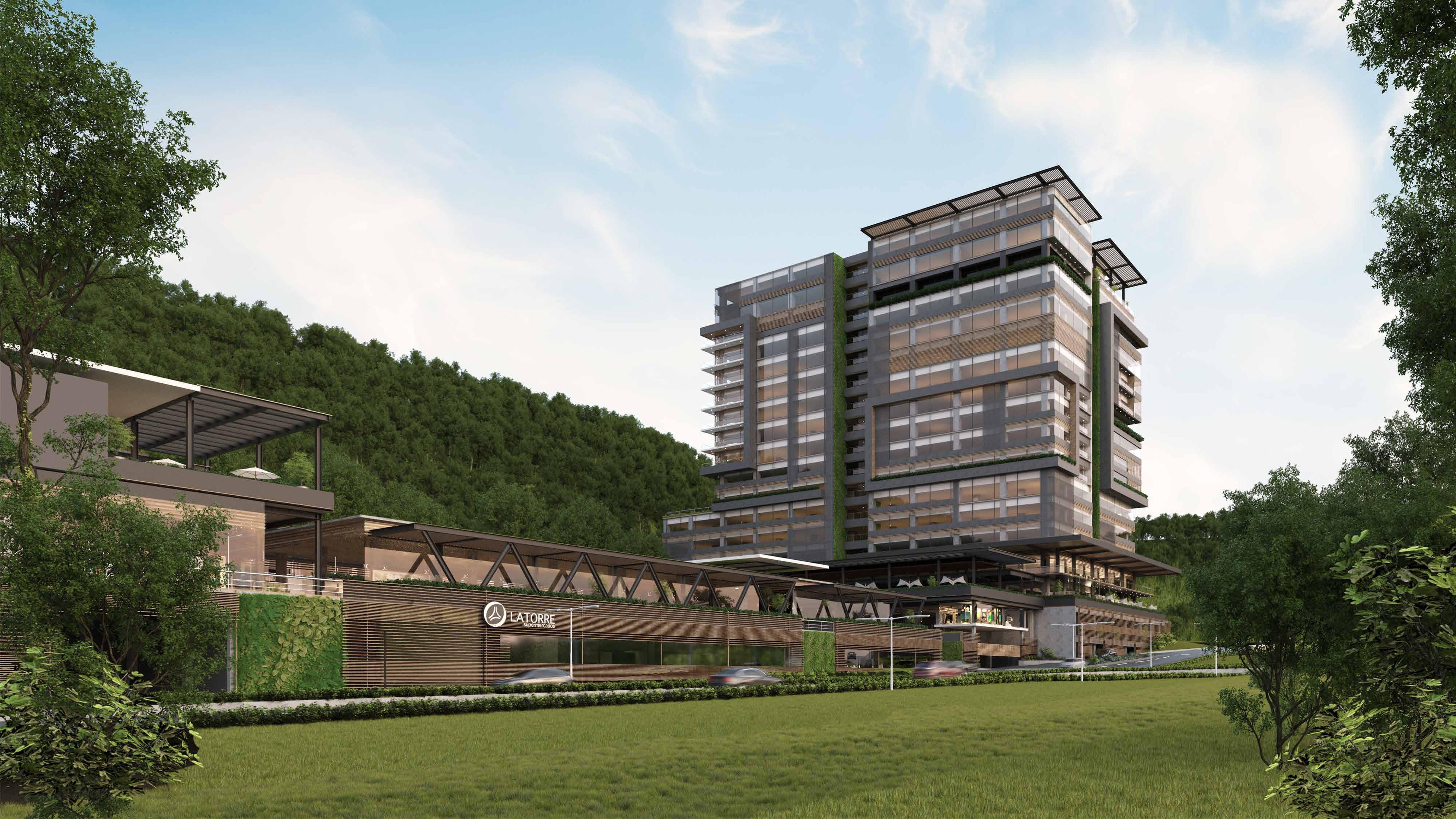 Spazio, Comunidad Corporativa y Lifestyle Center en zona 16