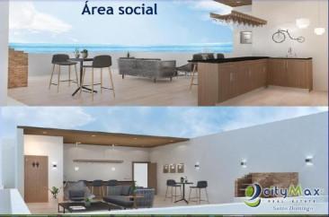 En venta apartamento en urbanizacion tropical de 2 hab