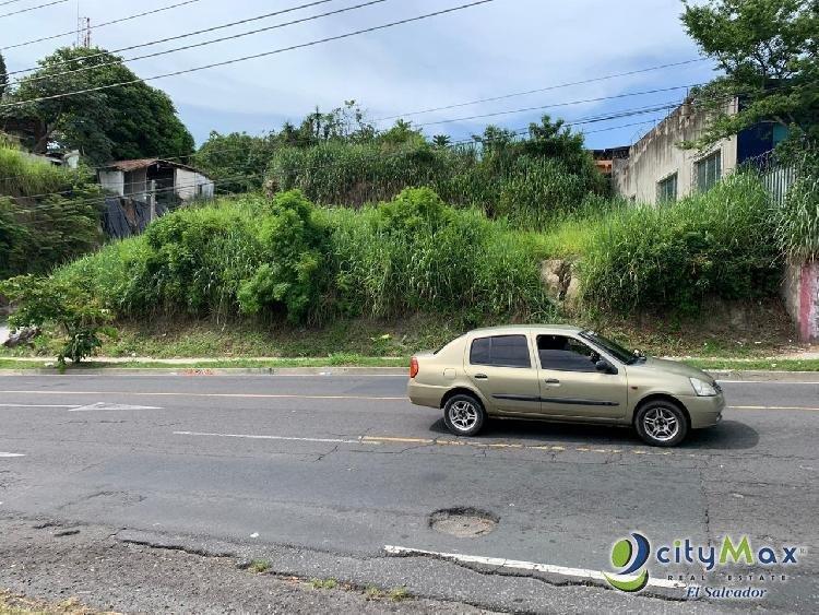 Terreno en Calle Agua Caliente Soyapango por ex Oliva