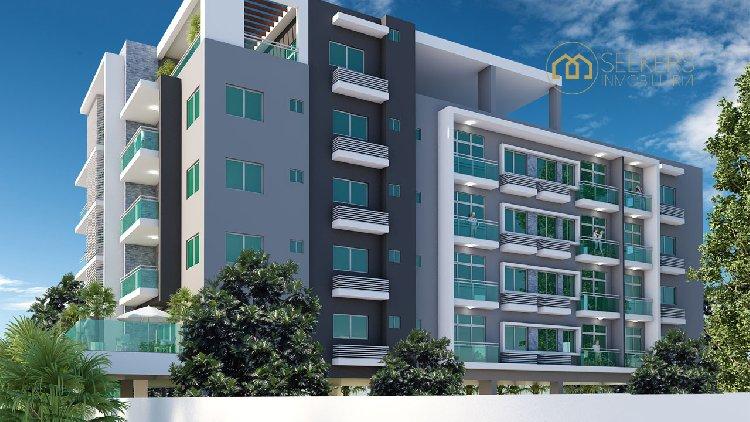 Penthouse en venta de 3 habitaciones en Santo Domingo