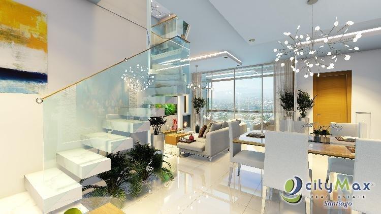 Se vende penthouse en plano cerro hermoso , santiago RD