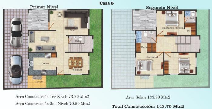 Vendo Espectacular casa en Proyecto En Alma Rosa II