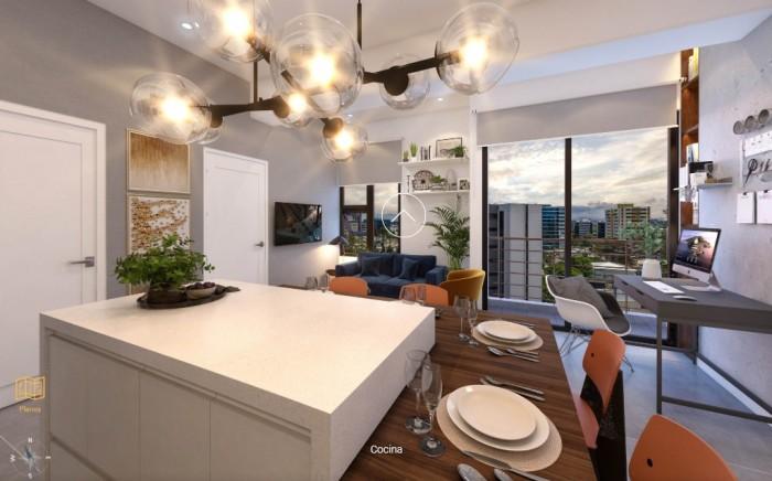 Lindo apartamento en venta en edificio en zona 10 Guate