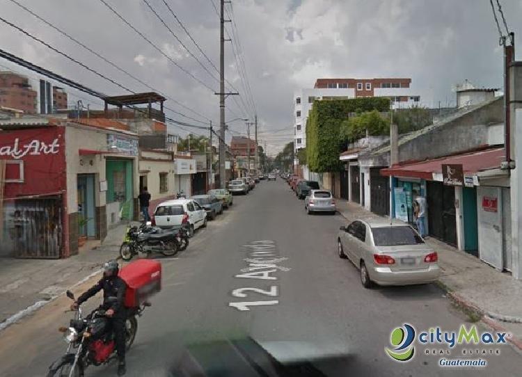 Terreno en Zona 10 en Venta, casa y locales comerciales