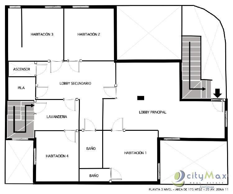Citymax Antigua Renta Oficina con bodega en Zona 11
