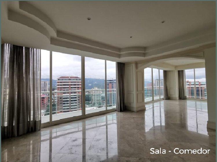 Amplio Apartamento DALI en Renta Zona 14 con 4 parqueos