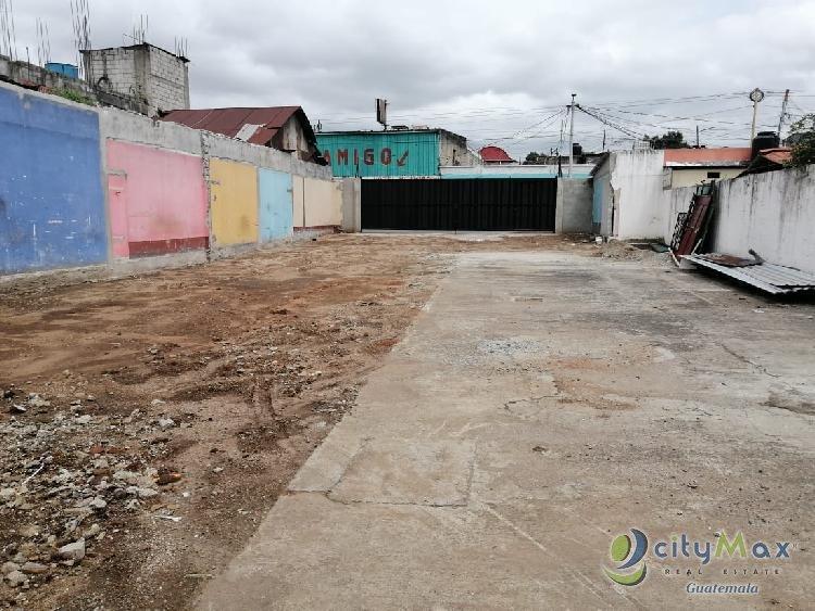 Alquilo Terreno Comercial Zona 1 de Villa Nueva 800mts