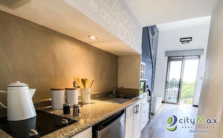 Apartamento amueblado en Renta Tipo Loft Zona 16