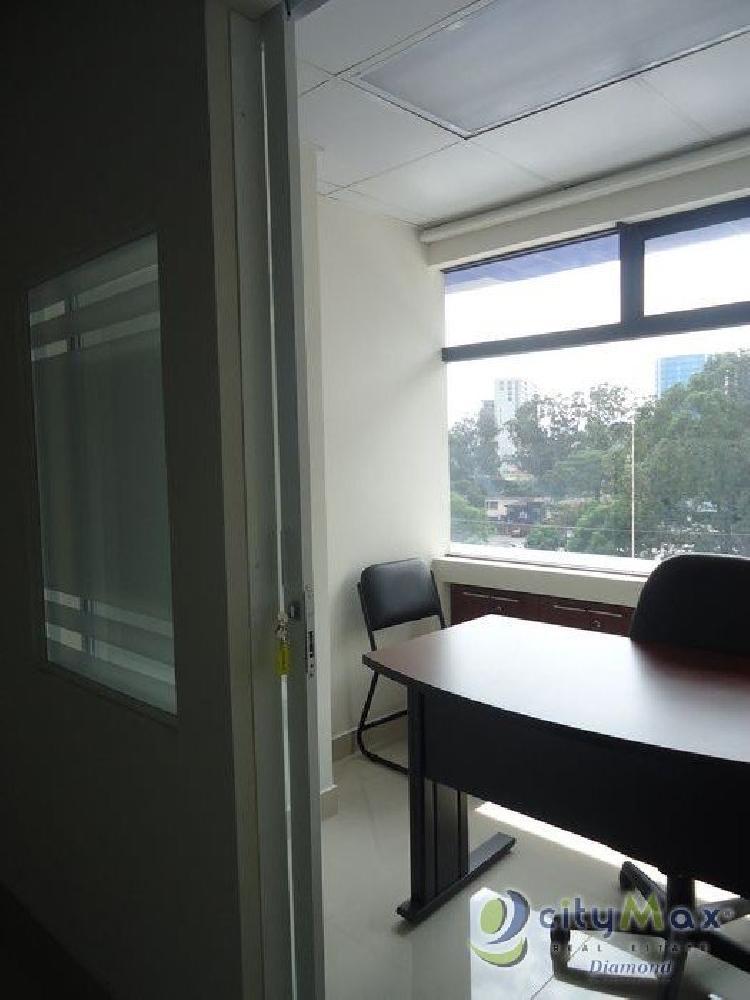 Renta de oficina amueblada para 4 personas en zona 10