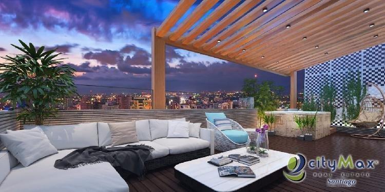 Venta de LUJOSO apartamento en plano, Santiago.