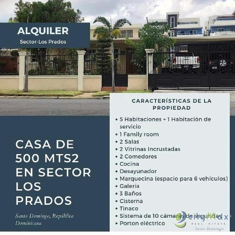 Amplia Casa en alquiler en el sector Los Prados