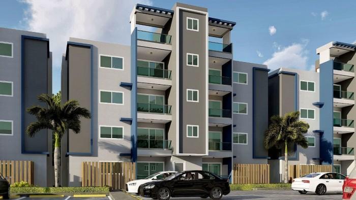 Apartamento en venta en 1er piso con terraza, Km 14