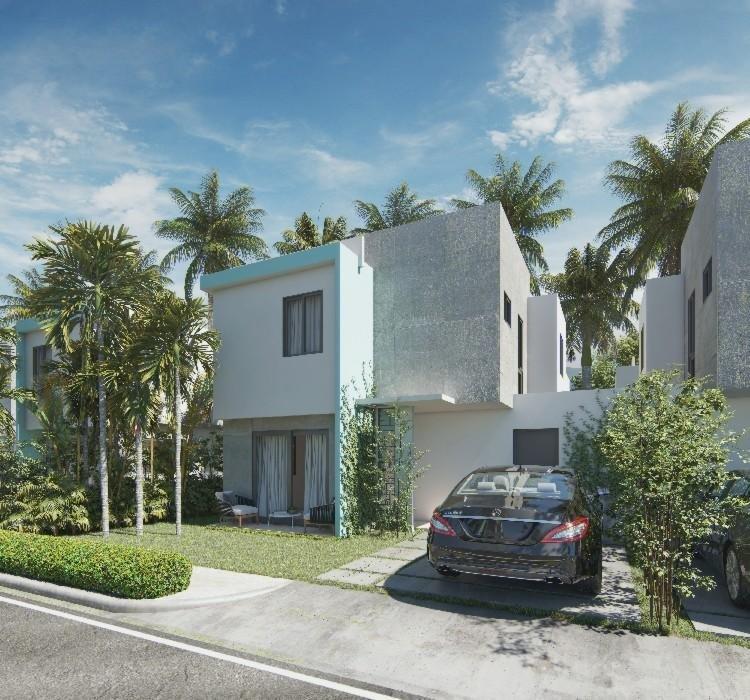 Vendo Casas en Punta Cana de 2 niveles 3hab de 103.88m2