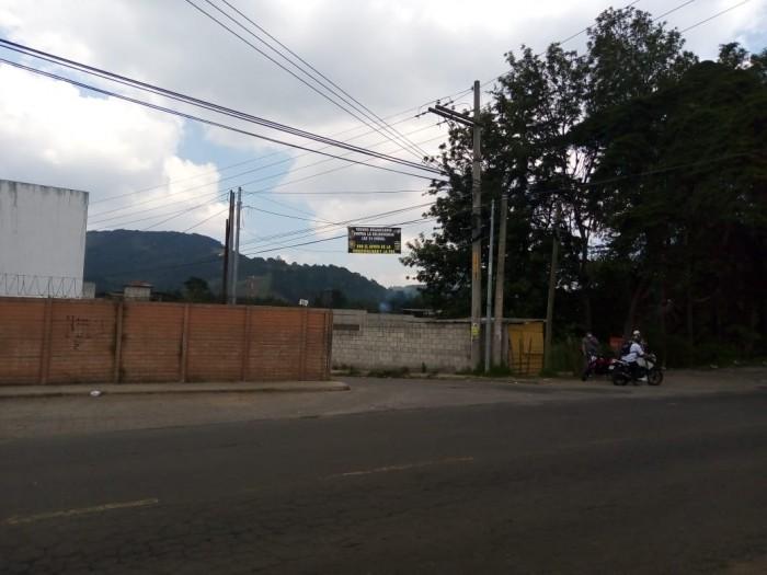 Terreno en renta San José Pinula para uso comercial
