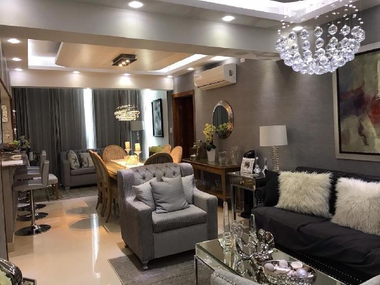 Rento apartamento amueblado de 2 hab  Evaristo Morales